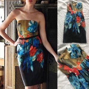Anthropologie splashed palette dress 0 moulinette